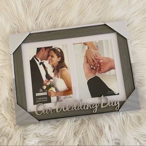 ✨3/$10✨[malden] wedding day double 5x7 photo frame